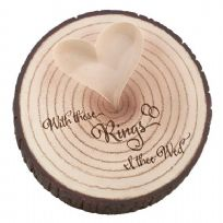 With These Rings Resin Tree Trunk Wedding Ring Holder